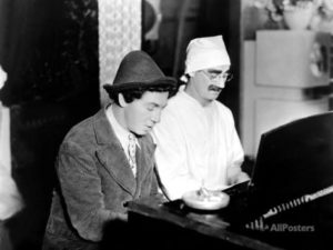 Chico Marx, Groucho Marx At The Piano On The Set Of Duck Soup, 1933