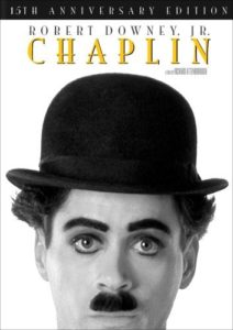 DVD cover - Robert Downey Jr. as Chaplin
