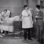 Olivery Hardy, Billy Gilbertson, Stan Laurel - County Hospital - chaos due to Stan Laurel