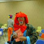 Hooligan, one of the funnest & funniest people at Clown Camp week 3. Notice how his glasses work with, and not against, his clown make up.