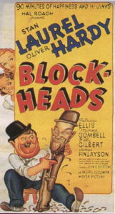 Block-Heads (1938) starring Stan Laurel, Oliver Hardy, James Finlayson, Billy Gilbertson