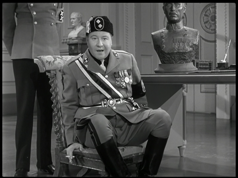 The Great Dictator – Jackie Oakley caricatures Benito Mussolini