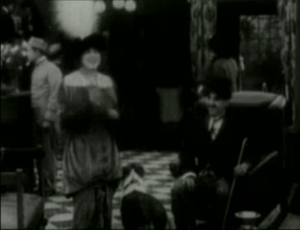 Mabel's Strange Predicament - Mabel Normand and Charlie Chaplin in the hotel lobby