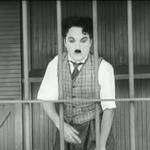 The Circus - Charlie Chaplin trapped in the lion's cage