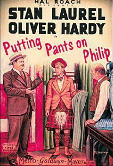 Putting Pants on Philip - movie poster - Oliver Hardy, Stan Laurel
