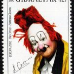 Stamp featuring Nicolai Polakovs, Coco Sr., who performed primarily in Europe