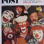 On the cover of the Saturday Evening Post, Coco (surrounded by some of his fellow clowns)
