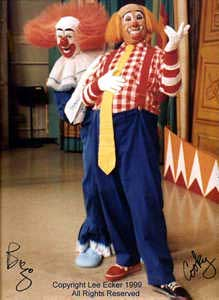 Cooky and Bozo on The Bozo Show in 1999