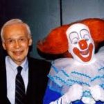 Alan Livingston and Bozo the Clown