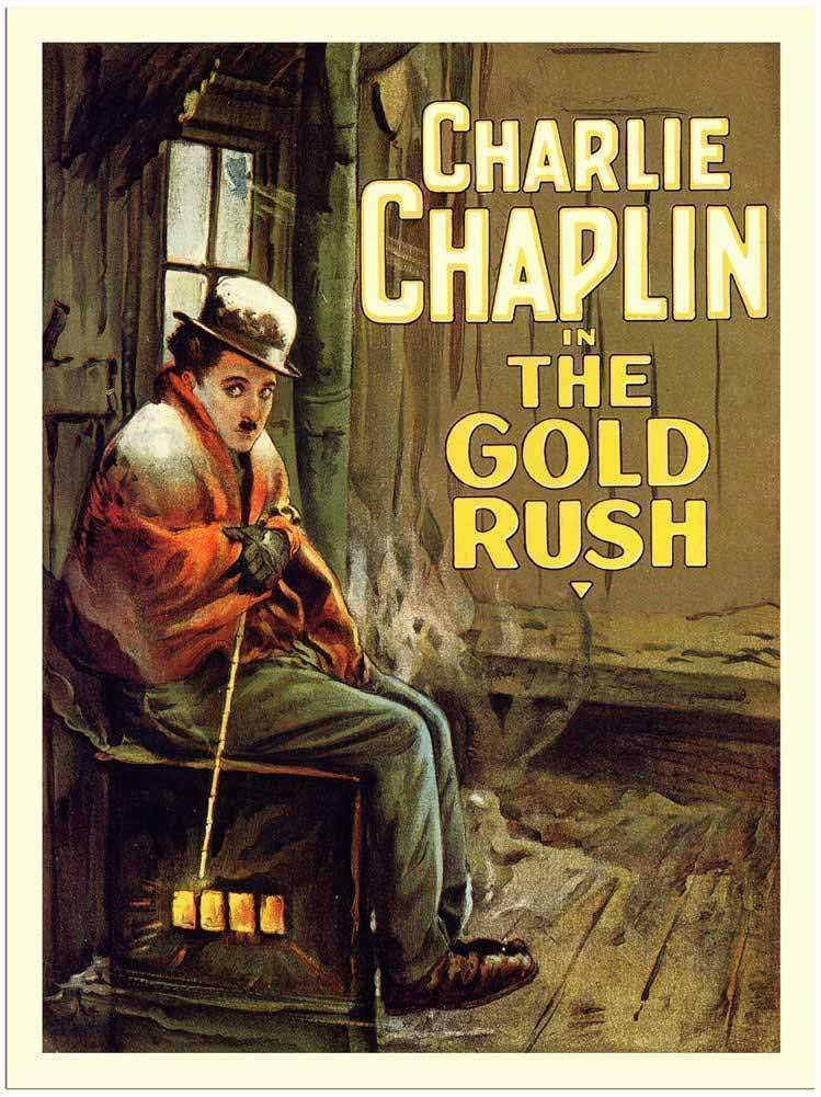 Art poster of Charlie Chaplin in The Gold Rush.