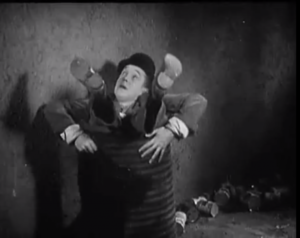 Night Owls ends with Stan Laurel stuck in a barrel
