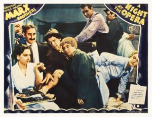 A Night at the Opera, 1935 - the famous scene where they cram every possible person into Groucho's room
