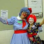 Spright & Dazzle, a mother-daughter clown combination.