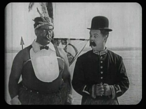 Vernon Dent (in blackface), Billy Bevan, in A Sea Dog's Tale