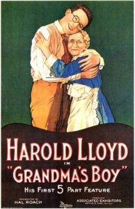 Movie poster for Grandma's Boy, starring Harold Lloyd
