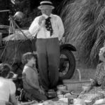 W. C. Fields and his family take an impromptu picnic in California - on someone else's property