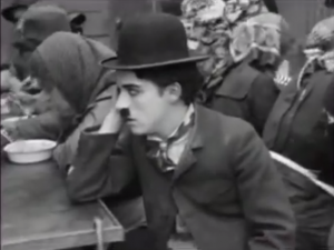 The Immigrant - Charlie Chaplin eating on board ship