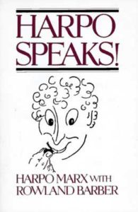 Harpo Speaks! by Harpo Marx and Rowland Barber