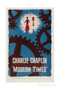 Modern Times, (1936), starring Charlie Chaplin, Paulette Goddard
