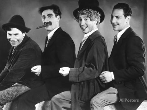 National Clown Week 2019 day 4 - Chico Marx, Groucho Marx, Harpo Marx, Zeppo Marx, 1930