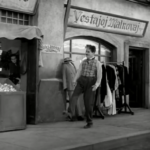 The Great Dictator – Charlie Chaplin as the Jewish barber, awoken from his decades-long coma, walking down the street