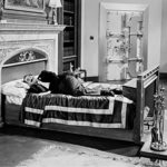Groucho Marx sleeping on the job in the bed department in The Big Store