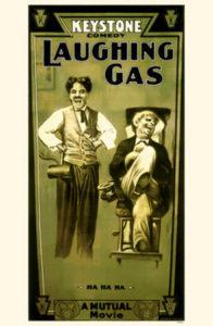 movie poster - Keystone Comedy - Laughing Gas - Charlie Chaplin