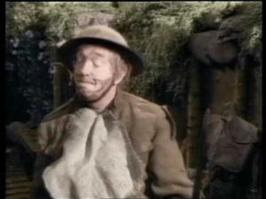Stan Laurel still in the World War I trenches 20 years later, in Block-Heads