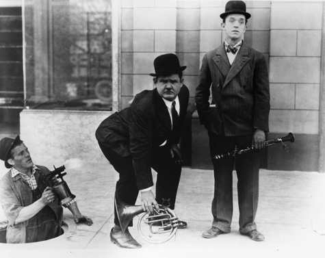 You're Darn Tootin' - blowtorch, Oliver Hardy, and Stan Laurel