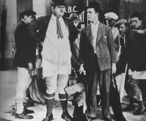 You're Darn Tootin' - Oliver Hardy loses his pants, while Stan Laurel looks on