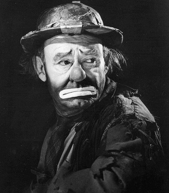 Lovely Photo Of Emmett Kelly In Character As Weary Willy