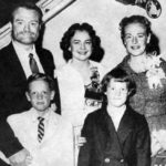 Red Skelton and family, circa 1957