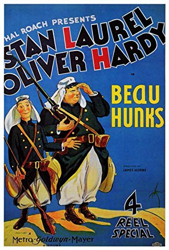 review of the Laurel and Hardy short film Beau Hunks (1931) starring Stan Laurel and Oliver Hardy