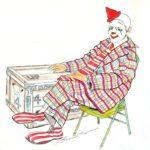 Drawing of Frosty Little by Bill Ballantine