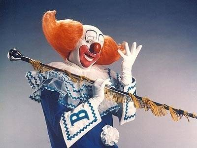 Joey D'Auria as WGN-TV's 2nd Bozo the Clown, with his marching staff