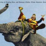 Lou Jacobs riding an elephant