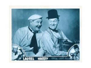 Them Thar Hills, Bottom and Center from Left: Oliver Hardy, Stan Laurel, 1934 Giclee Print