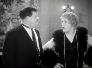 Twice Two - Oliver Hardy and Stan Laurel (in drag), with both in dual roles as themselves as well as each other's wife