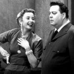 Audrey Meadows and Jackie Gleason in The Honeymooners