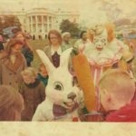 Bobby Kaye and Frankie Saluto (as the Easter Bunny) performing at the White House Easter egg hunt