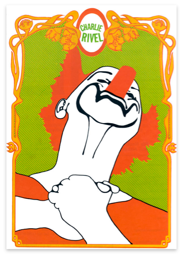 Color poster of Charlie Rivel