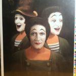 Painting of Marcel Marceau by Jim Howle