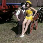 Color photo of Otto Griebling and aerialist