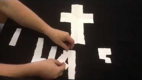 """Gospel Paper Tear - This is a demonstration of a simple paper tear, that requires only a normal 8.5"""" x 11"""" sheet of paper"""