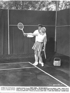 Jerry Lewis in The Big Mouth - in his Nutty Professor persona, getting a tennis match