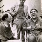 Buster Keaton, Phil Silvers, and Zero Mostel behind the scenes of A Funny Thing Happened on the Way to the Forum