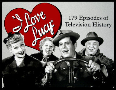 """Ricky, Lucy, Fred and Ethel embarking on their trip to California, from the I Love Lucy episode """"California, Here We Come!"""", part of the fourth season's big 'trip to California' story arc where Ricky goes to Hollywood to star in a movie, Don Juan."""