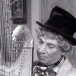 I Love Lucy - Harpo Marx playing the harp