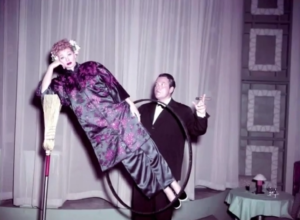 Lucy Meets Orson Welles - the magic act, where Lucy tries to squeeze in Romeo and Juliet
