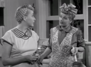 The Girls Want to Go to a Night Club - I Love Lucy episode 02, season 1 - Ethel and Lucy talking